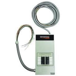 Generac - 10-circuit transfer switch with breakers 1